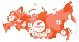 "Карта присутствия франшизы ""Съем Слона"""